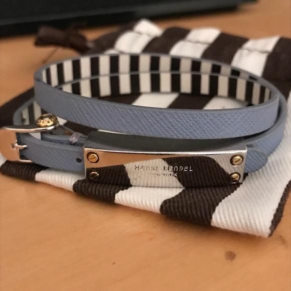 Henri Bendel Accessories Rivington Metal Wrap Bracelet In Teal